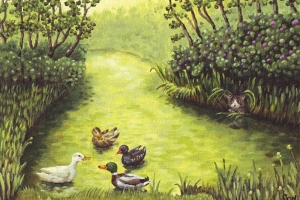 Watervriendjes, kinderkamer schilderij, nursery painting