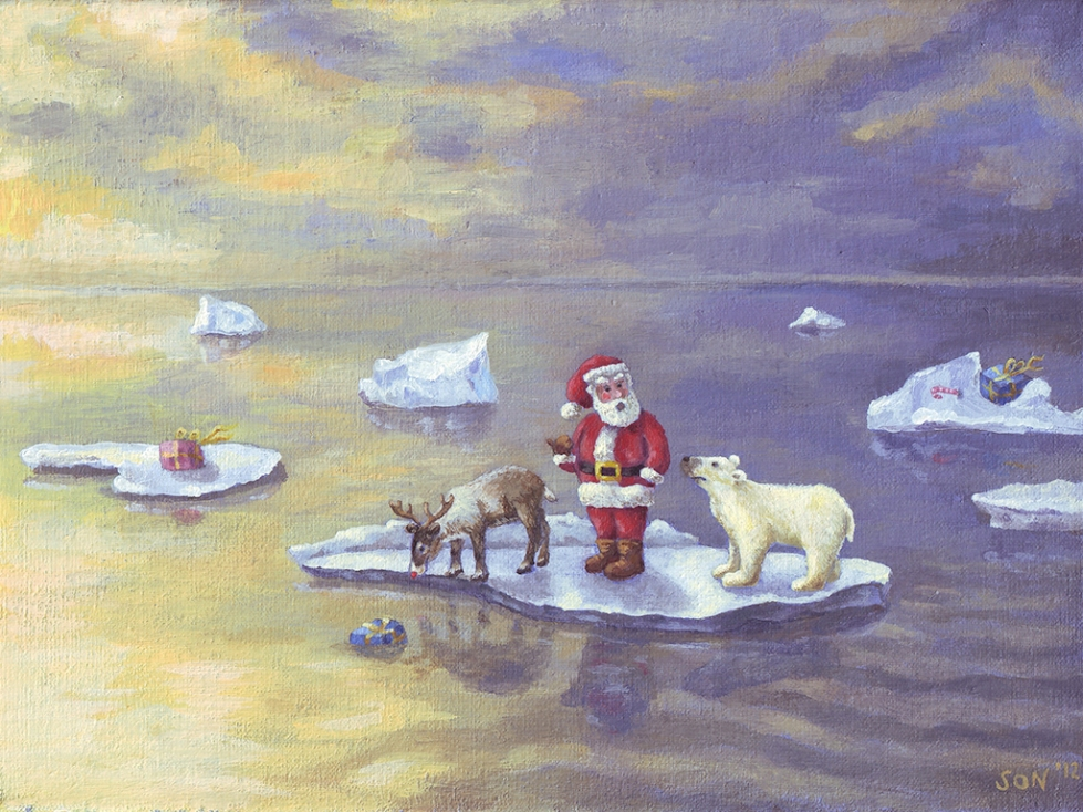 Funny christmas card, grappige kerstkaart